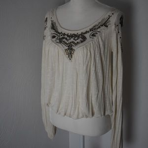 Boho Free People beaded top Small